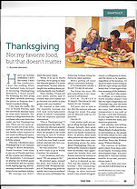 Your Teen Magazine: Thanksgiving, Not My Favorite Food, But That Doesn't Matter
